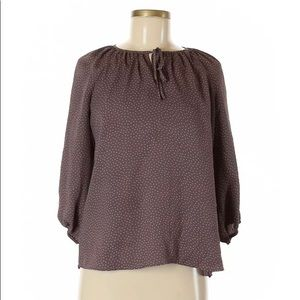 🆕Ann Taylor Loft Women Purple 3/4 Sleeve Blouse